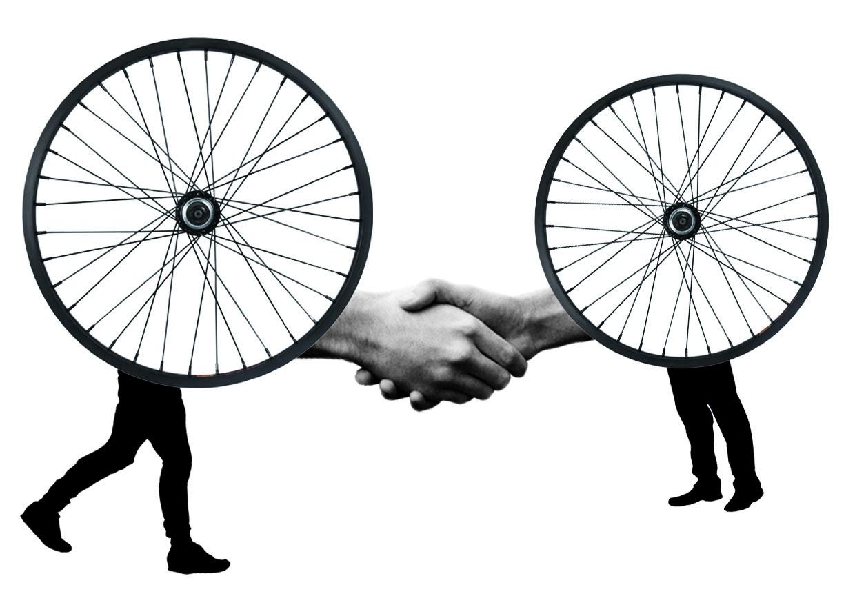 Handshake poto cyclettes